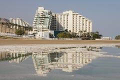 死海,以色列- 2016年12月20日, :在死海的旅馆手段 库存照片