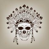 死的印第安酋长头骨 免版税库存图片