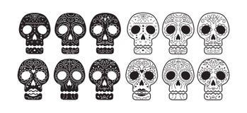 死的头骨集合的天 免版税库存图片