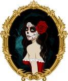 死的妇女画象的天 库存图片