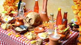 死的法坛Dia de Muertos的天 免版税库存图片