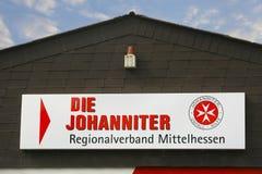 死Johanniter商标 免版税库存图片