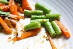 残余泰国的食物 免版税图库摄影