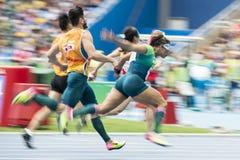 残奥会开幕式里约2016年 库存照片
