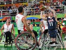 残奥会比赛2016年篮球 免版税库存图片