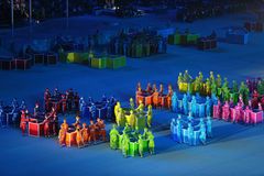 残奥冬天比赛2014年 库存照片