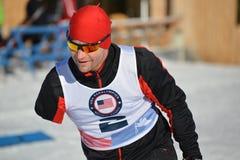 残奥越野滑雪者 库存照片