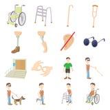 残疾人关心集合 库存图片