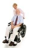 残疾人前辈妻子 库存图片