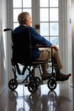 残疾人前辈轮椅 图库摄影