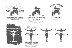 残疾人奥林匹克运动会paralympics里约 库存例证