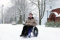 残疾人年轻人 库存图片