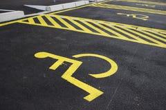 残疾停车位4 免版税库存照片