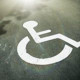 残疾停车位 免版税图库摄影