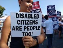 残疾公民也是人们! 图库摄影
