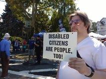 残疾公民也是人们! 免版税库存照片