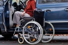 残疾司机 免版税库存照片