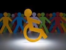 残疾图纸张 库存照片