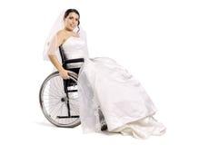 残疾新娘 免版税库存图片