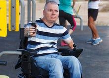 残疾男性 免版税库存照片