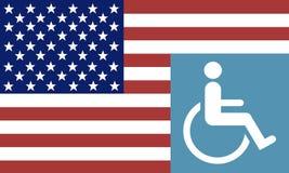 残疾美国经验丰富的标志 皇族释放例证