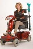 残疾老妇人 免版税库存图片