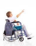 残疾青少年的男孩 免版税库存图片