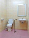 残疾洗手间 免版税图库摄影