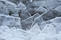 残破的冰 免版税库存照片