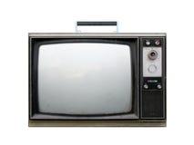 残破的减速火箭的电视 免版税库存照片