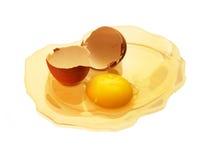 残破的壳卵黄质 免版税库存照片