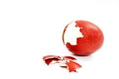 残破的复活节彩蛋 免版税库存图片