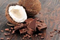 残破的巧克力黑暗 免版税图库摄影