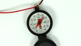 残破的快速的转动的指南针针徒升里里外外 影视素材