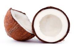 残破的椰子 免版税库存照片