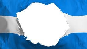 残破的洪都拉斯旗子 向量例证