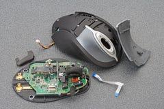 残破的激光鼠标 图库摄影