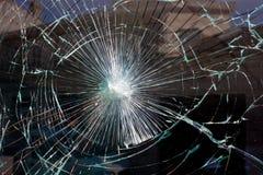 残破的玻璃万维网 库存照片