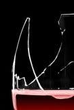 残破的玻璃红葡萄酒 免版税图库摄影