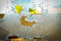 残破的玻璃门 免版税库存照片