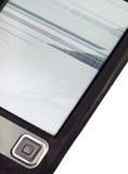 残破的电子书(e -book阅读程序)与被拒绝的屏幕 库存图片