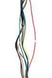 残破的电缆红色电汇 免版税库存照片