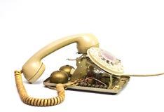 残破的电话 免版税库存照片