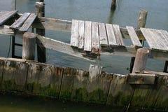 残破的码头 库存照片
