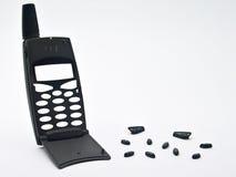 残破的移动电话 免版税图库摄影