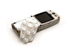 残破的移动电话 库存照片