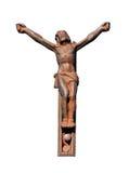 残破的耶稣受难象铁 免版税图库摄影