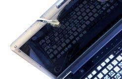 残破的膝上型计算机 免版税库存图片