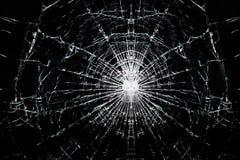 残破的裂化的玻璃 免版税图库摄影