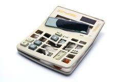 残破的计算器 库存照片